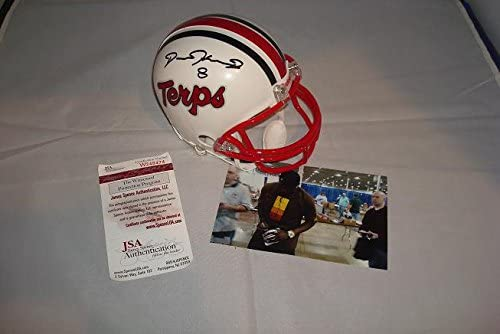 Neal Olkewicz Maryland Terrapins Terps Autographed Mini Helmet With Record Tackles Inscription