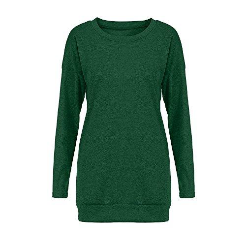 Solide Bas Longues Femmest en Patchwork Manches E Shirt wYqqCvS
