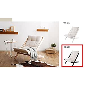 xue solid wood folding sofa chair nordic style folding chair beech chair color white - Nordic Design Chaise