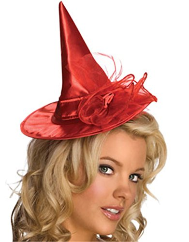 Hot Purple Mini Witch Hat (Rubie's Costume Co Red Mini Satin Wit Child Hat Costume)