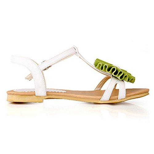 Coolcept Women T Strap Sandals Green QZ8DFQhUgX