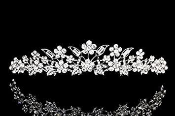 Jewelry Sets & More Hair Jewelry Magnificent Snow Queen Crown Tiaras Wedding Bridal Women Pearl Sparkling Leaf Bride Prom Hairband Diadem Hairjewelry Accessories Easy To Lubricate