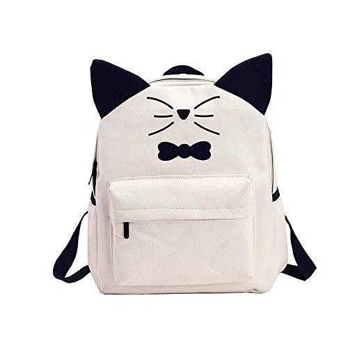 economici Travel Teen Libri Cartoon Vhvcx Cat B Borsa animali Stampa zaino Canvas Bow School Cute 7gBqx5nAR