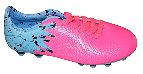 Vizari Aversa FG Soccer Cleat, Blue/Pink, 5.5 M US Big Kid
