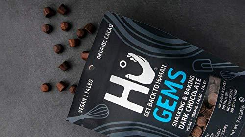 Hu Gems Baking Chocolate Vegan Snacks | 3 Pack | Organic, Paleo, Gluten Free Dark Chocolate Chips | Baking and Snacking Chips | Plant Based, Non GMO, Kosher