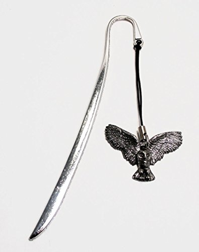Wildlife Owl Letter Opener Bookmark Combo in English Pewter (With Gift Box) (Combo Pewter)