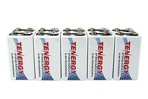 10 pcs of Tenergy Premium 9V 200mAh NiMH Rechargeable Batteries