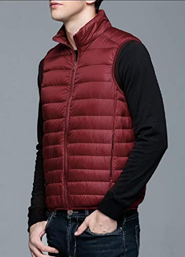 1 Puffer Waistcoat Vest TTYLLMAO Jacket Packable Coat Down Men's Ultralight TYqxfFU