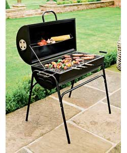 how to use oil drum bbq