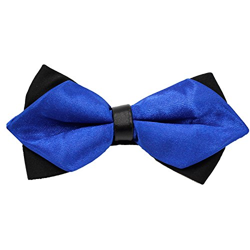 Gift Boxed Tuxedo Formal Pre-Tied Satin Bow Tie,Sharp Double Layers Men's Necktie,Adjustable Length by LOVTIE