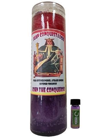 ジョンThe Conqueror Dressed Scented Candle – Veladora Preparada Juan Conquistador B078J8RWT2