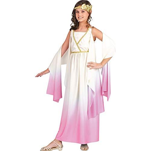 Amazon.com: Diosa griega Niño Disfraz Blanco y Rosa – Tamaño ...