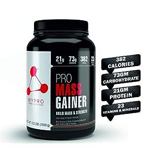 Mypro Sport Nutrition High Protein Pro Mass Gainer Belgium Chocolate Flavor Supplement Powder for Men and Women, Total…