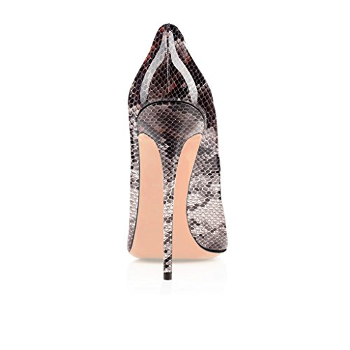 Spiss Pumper Pointed Shoes Kvinner Stiletto Elashe Pumps Court Elashe Stiletto Sko Domstol Elegante Women High Toe Leopard 12cm Leopard Elegante Tå 12cm Heels Høye Hæler FnnTfq