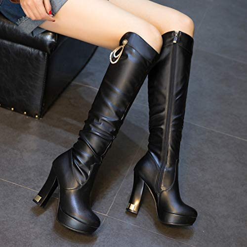 AIYOUMEI Stivali AIYOUMEI Classici Donna Classici Nero AIYOUMEI Classici Stivali Donna Stivali Nero qcr7Cdfq