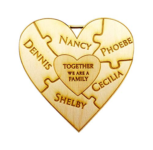 Personalized Family Puzzle Christmas Ornaments, Family Ornament Personalized -