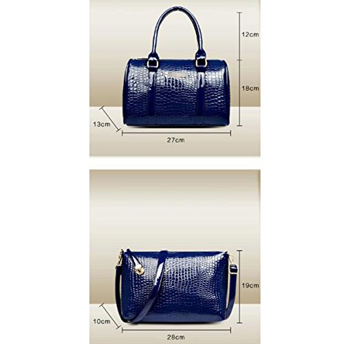 Pu Cuir Black Bandoulière Wallet À Vintage Femmes 6 Style Fourre Sac Pièce tout Main ISqwXSxtWO