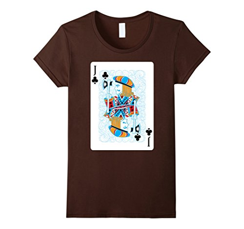 Womens Jack Costume Deck T-Shirt Halloween Cards Spades Group Small (Jack Of Spades Costume)