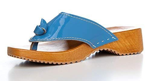 36 Tongs Bleu pour EU femme Clogs Hellblau BUR fPnw6q