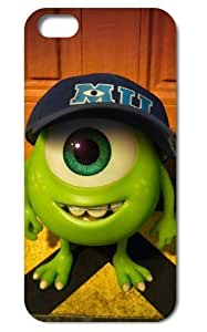 New Monsters University Mike Wazowski and James P.Sullivan Fashion Seamless Back Cover Case for iPhone 5/5S