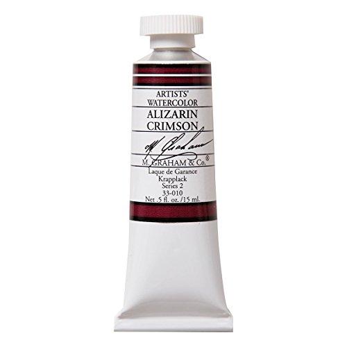 M. Graham & Co. 33-010 M. Graham 1/2-Ounce Tube Watercolor Paint, Alizarin Crimson