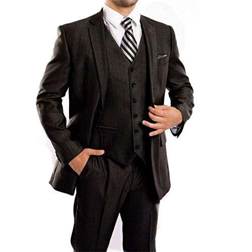 ringbone 3 Piece 2 Button Classic Fit Suit New(52L/46Waist Regular) ()