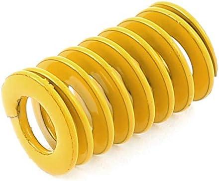 Juego de muelles de compresion, Amarillo de carga de acero de aleación ligera 12x6x20mm prensa de compresión del resorte