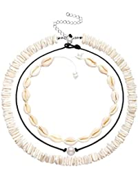 Shell Choker Necklaces Bohemia Cowrie Shell Necklaces Beaded Seashell Necklaces Summer Beach Jewelry for Women