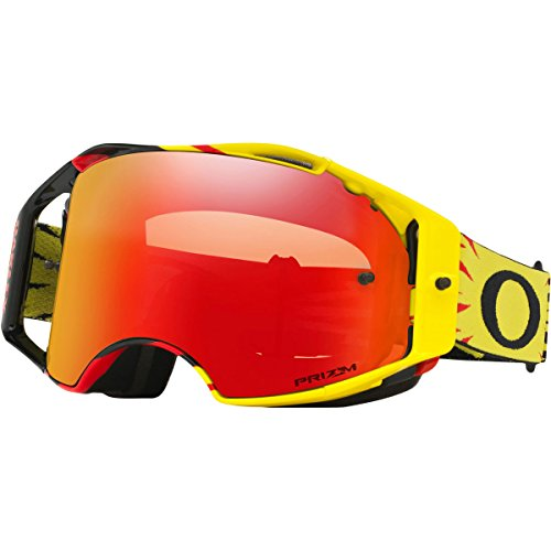 Oakley Airbrake MX High Voltage Adult Off-Road Motorcycle Goggles Yell/Red W/Prizm Red Torch Iridium - Goggles Oakley Strap