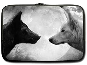 Black Wolf and White Wolf - Wildlife Animal Art 13