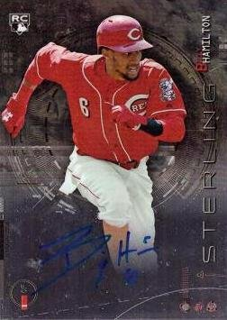 2014 Bowman Sterling #BSRA-BH Billy Hamilton Certified Autograph Baseball Rookie Card