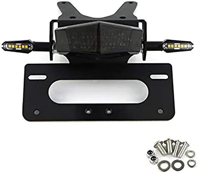 Color : Red RONGLINGXING For Honda CRF250L CRF250M 2012 2013 2014 2015 2016 Motorcycle Rear Tail Tidy License Plate Holder Fender Eliminator Kit Black