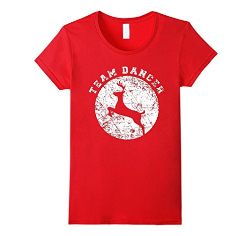 [Women's Team Dancer Shirt, Funny Cute Christmas Gift Kids Small Red] (Red Dancing Girl Emoji Costume)