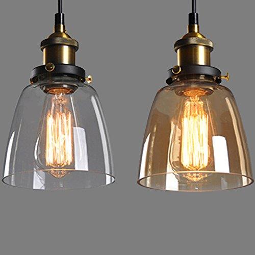 Vintage Retro Glass Shade Ceiling Lights Chandelier Fitting Pendant Lamp ()