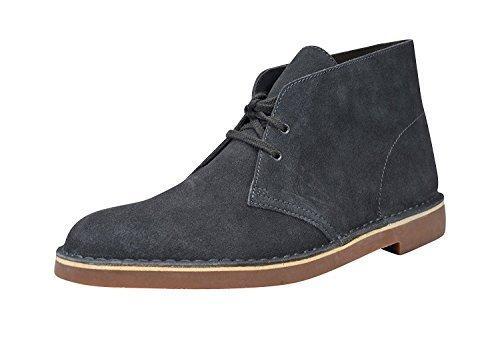 Clarks men Bushacre 2 Ankle Shoe (8 D(M) US, Steal Blue Suede)
