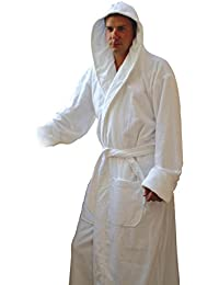 Heavy Hooded Terry Cloth Bathrobe. XXXL Full Length 100% Turkish Cotton (Hunter Green