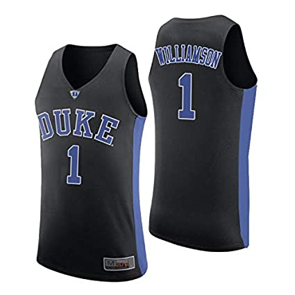 31c2822cd53c Jordan Men s NCAA Duke Blue Devils  1 Zion Williamson Black Authentic  College Performance Basketball Jersey