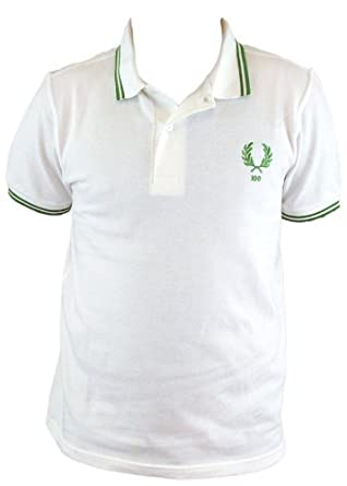7f16124f Fred Perry 100 Year Limited Edition Centenary Mens Polo Shirt (XX-Large,  White/Green/Green): Amazon.co.uk: Clothing