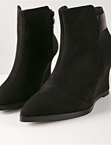 De Botas us6 Casual Cn37 Zapatos Puntiagudos us8 Eu37 5 5 Eu39 Gray Uk6 Mujer Negro 5 Tacón Cuña Vellón Cn39 Xzz Gray Gris 7 Uk4 w5xYTAqT0