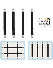 8Pcs Adjustable Bed Sheet Straps Clips