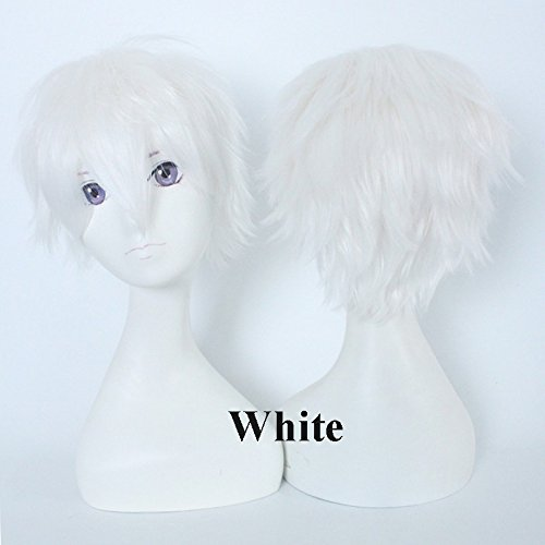 S-noilite Unisex Short Pixie Cosplay Wig Anime Layered Fluffy Straight Synthetic Hair Full Head Wigs for Mens Women Party Fancy Dress Costume ()