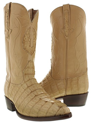 Black Diamond - Men's Sand All Real Crocodile Tail Skin Cowboy Boots J Toe 8.5 D (Alligator Boots Cowboy Skin)
