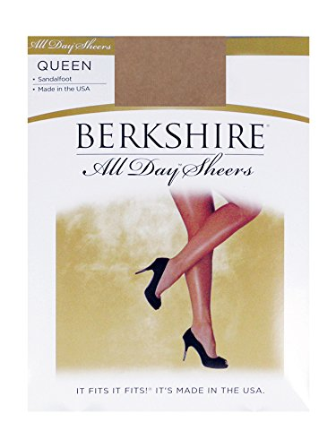 Berkshire Women's Plus-Size Queen All Day Sheer Non-Control Top Pantyhose - Sandalfoot, City Beige, (Day Sheer Pantyhose Hosiery)