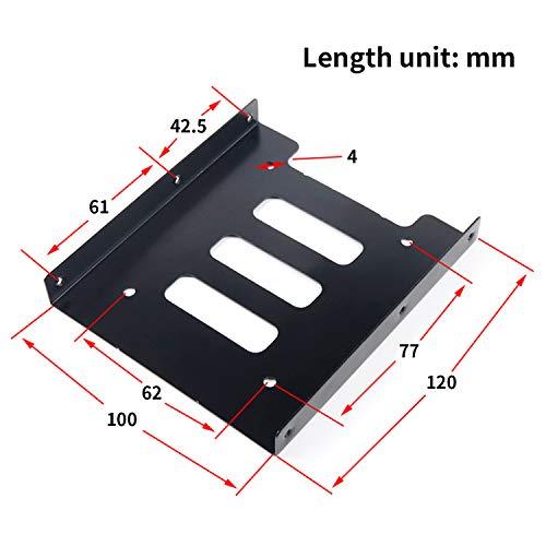 SAISN HDD/SSD Mounting Bracket, 2.5 to 3.5 Adapter, Hard Drive Holder (Single Drive, 2 Pack) by SAISN (Image #2)