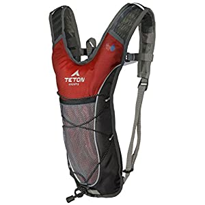 TETON Sports Trailrunner 2 Liter Hydration Backpack Perfect for Biking, Running, Hiking, Climbing, and Hunting; Red