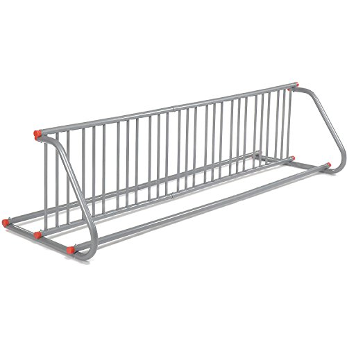 Global Industrial Grid Bike Rack, Double Sided, Powder Coated Galvanized Steel, 18-Bike Capacity