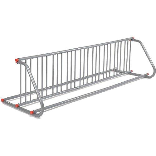 Global Industrial Grid Bike Rack, Double Sided, Powder Coated Galvanized Steel, 18-Bike Capacity - Industrial Coated Thin