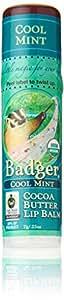 Badger Cocoa Butter Lip Balm-Cool Mint