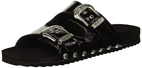 Fergalicious Women's Louie Slide Sandal Black 7 M US