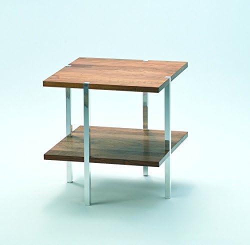 Koop Het Beste D-TEC U.F.O. N 44 tafel, hout, notenhout/aluminium, 45 x 45 x 45 cm  W6UGuFH